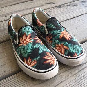 Vans Shoes - Tropical Print Slip-On Vans